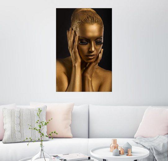 Posterlounge Wandbild »Fantastisches Gold-Make Up«