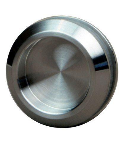 Levidor Glasschiebetür Eco 4 Streifen mit Muschelgriff, weiß