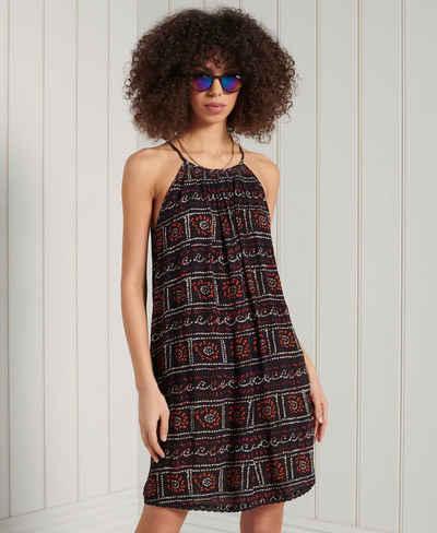 Superdry Minikleid »BEACH CAMI DRESS« mit smmerlichen Muster und seitlichen Taschen