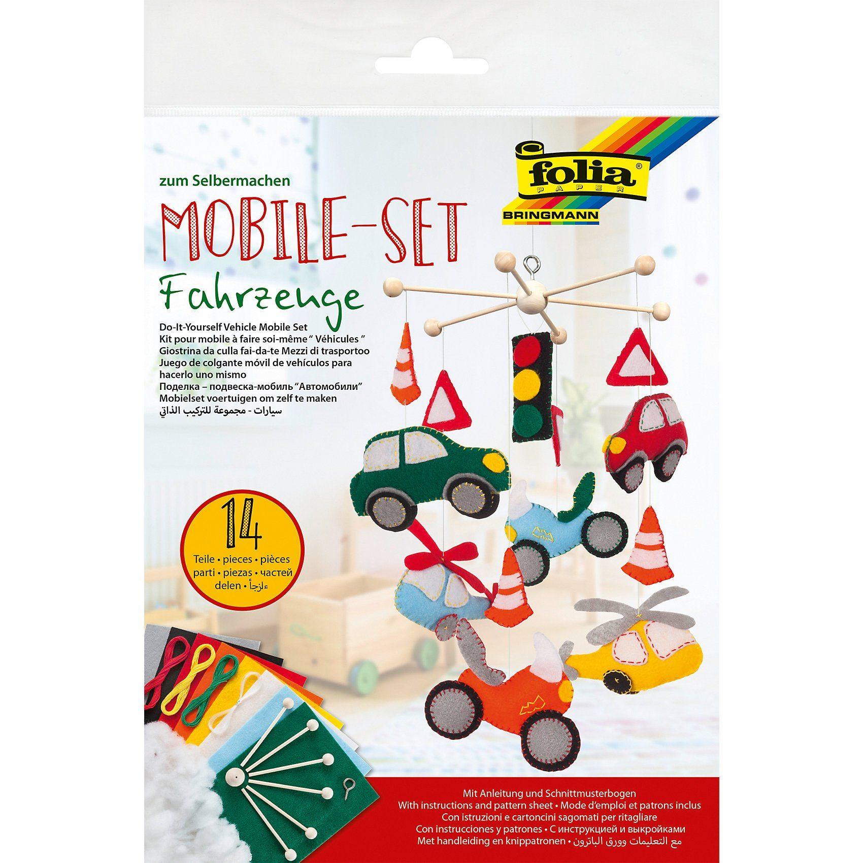 Folia Kreativset Mobile Fahrzeuge Filz, 14-tlg.