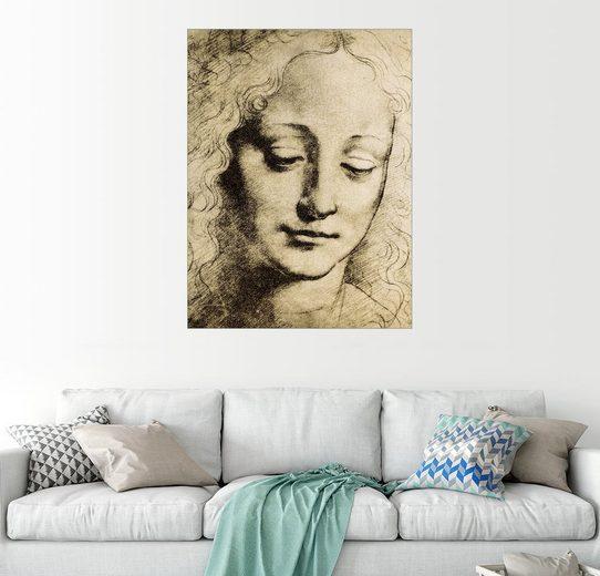 Posterlounge Wandbild - Leonardo da Vinci »Kopf eines Jugendlichen«