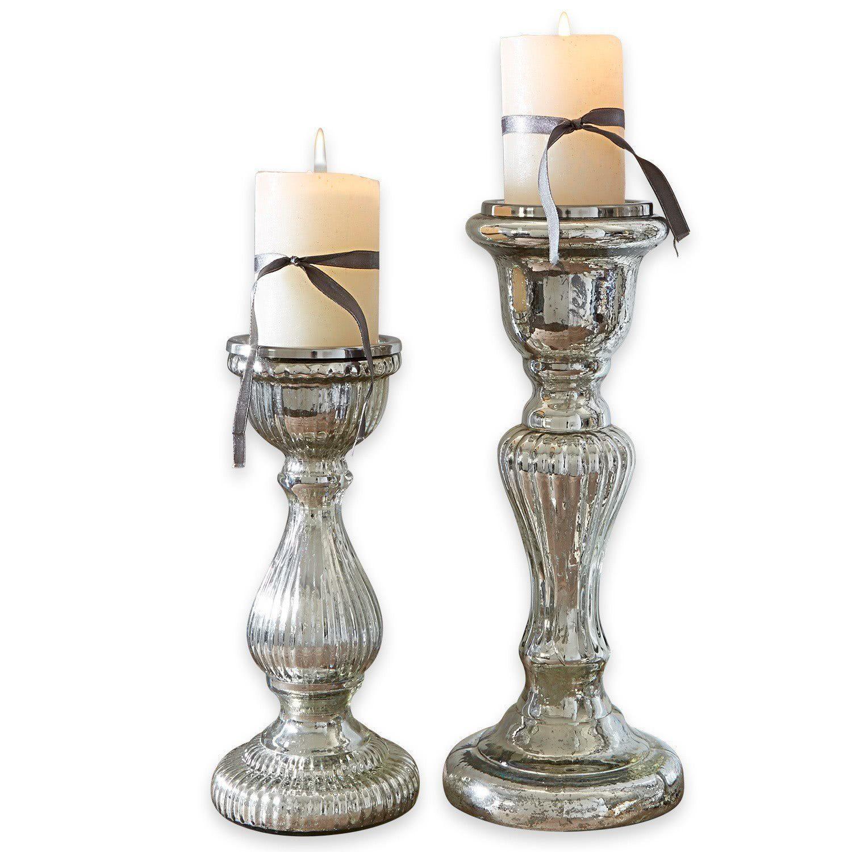 Loberon Kerzenständer 2er Set »Rémy«