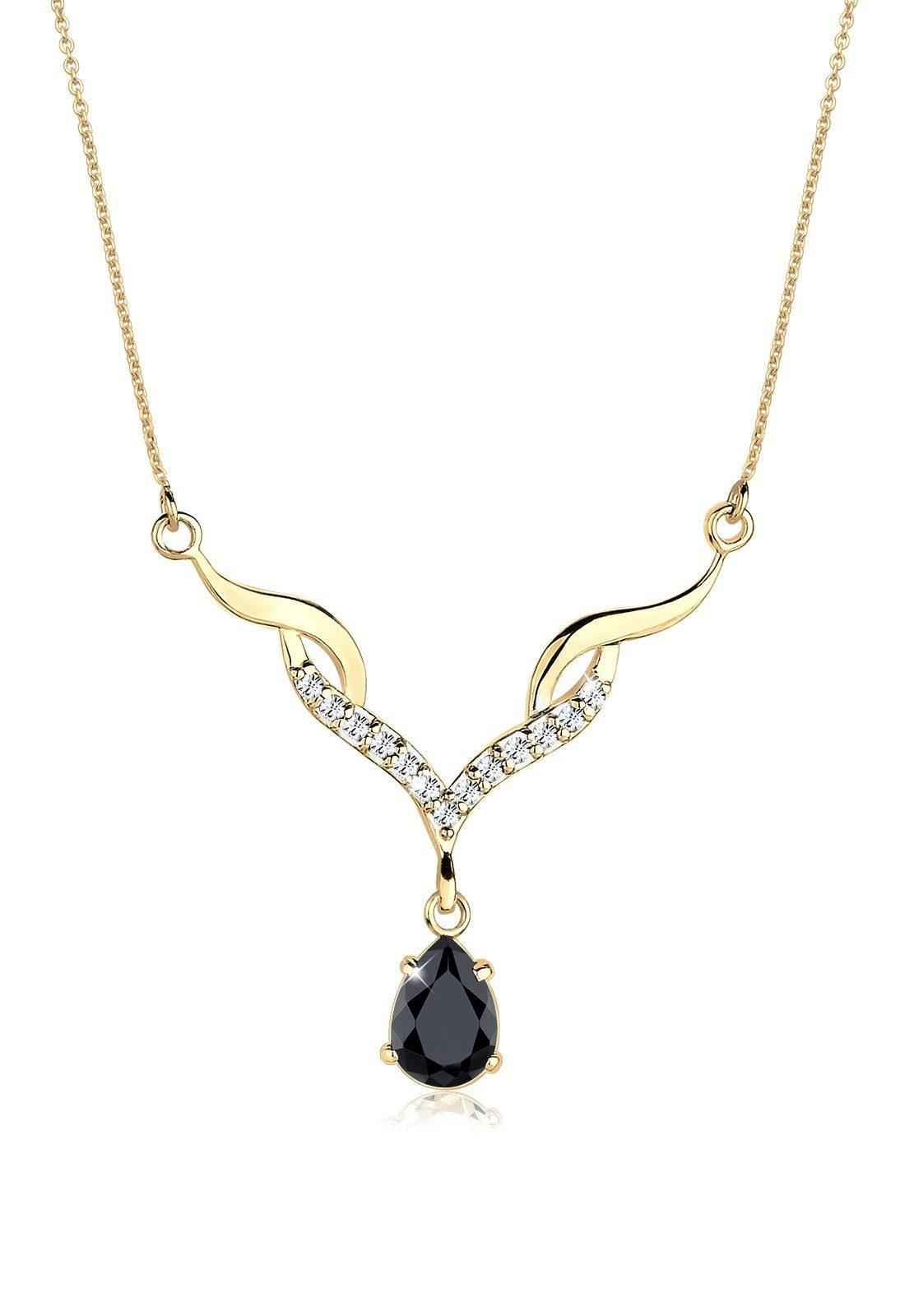 GOLDHIMMEL Collierkettchen »Collier Swarovski® Kristalle 925 Sterling Silber«