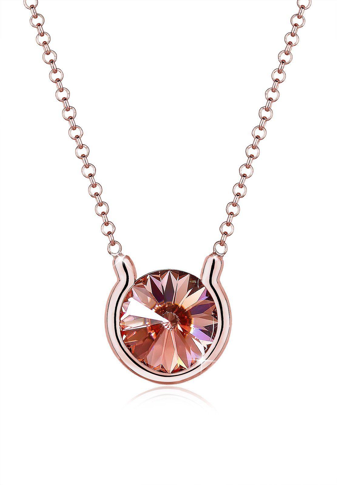 Elli Collierkettchen »Swarovski® Kristalle Rosé 925 Sterling Silber«