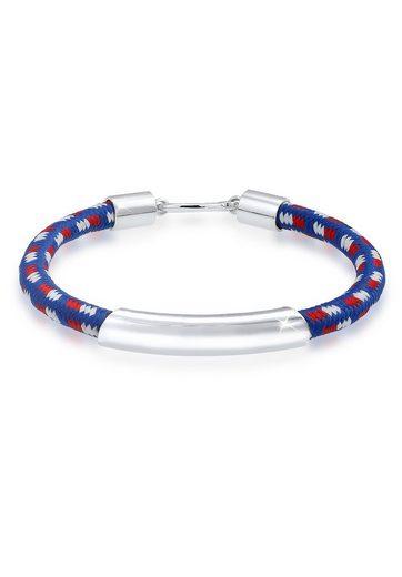 Kuzzoi Armband »Haken Basic Textil 925 Sterling Silber«