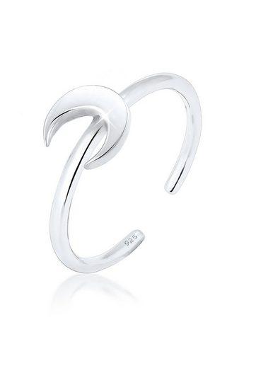 Elli Fingerring »Halbmond Luna Basic Astro 925 Silber«