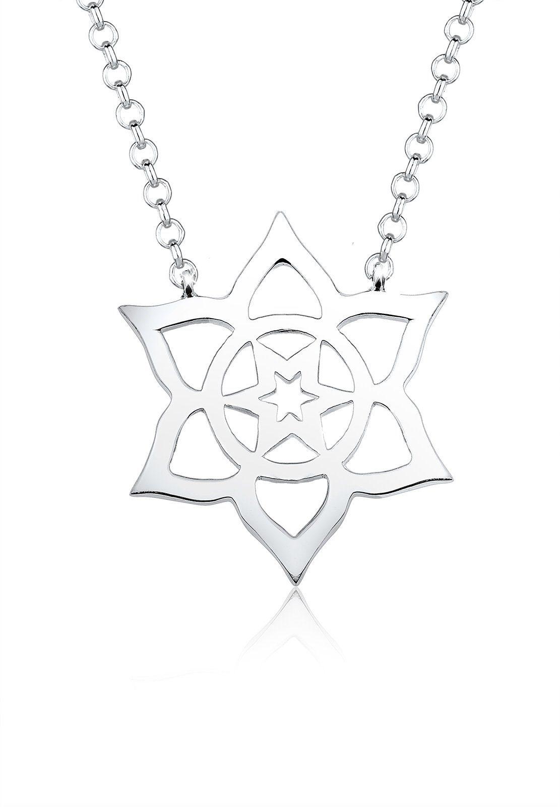 Elli Collierkettchen »Blume Stern Chakra Floral 925 Sterling Silber«