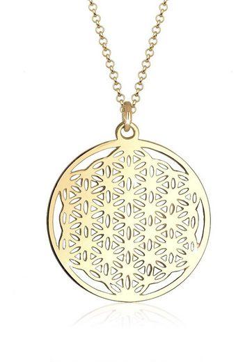 Elli Kette mit Anhänger »Ornament Lebensblume Symbol 925 Sterling Silber«