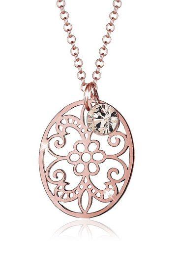 Elli Collierkettchen »Ornament Swarovski® Kristalle 925 Sterling Silber«