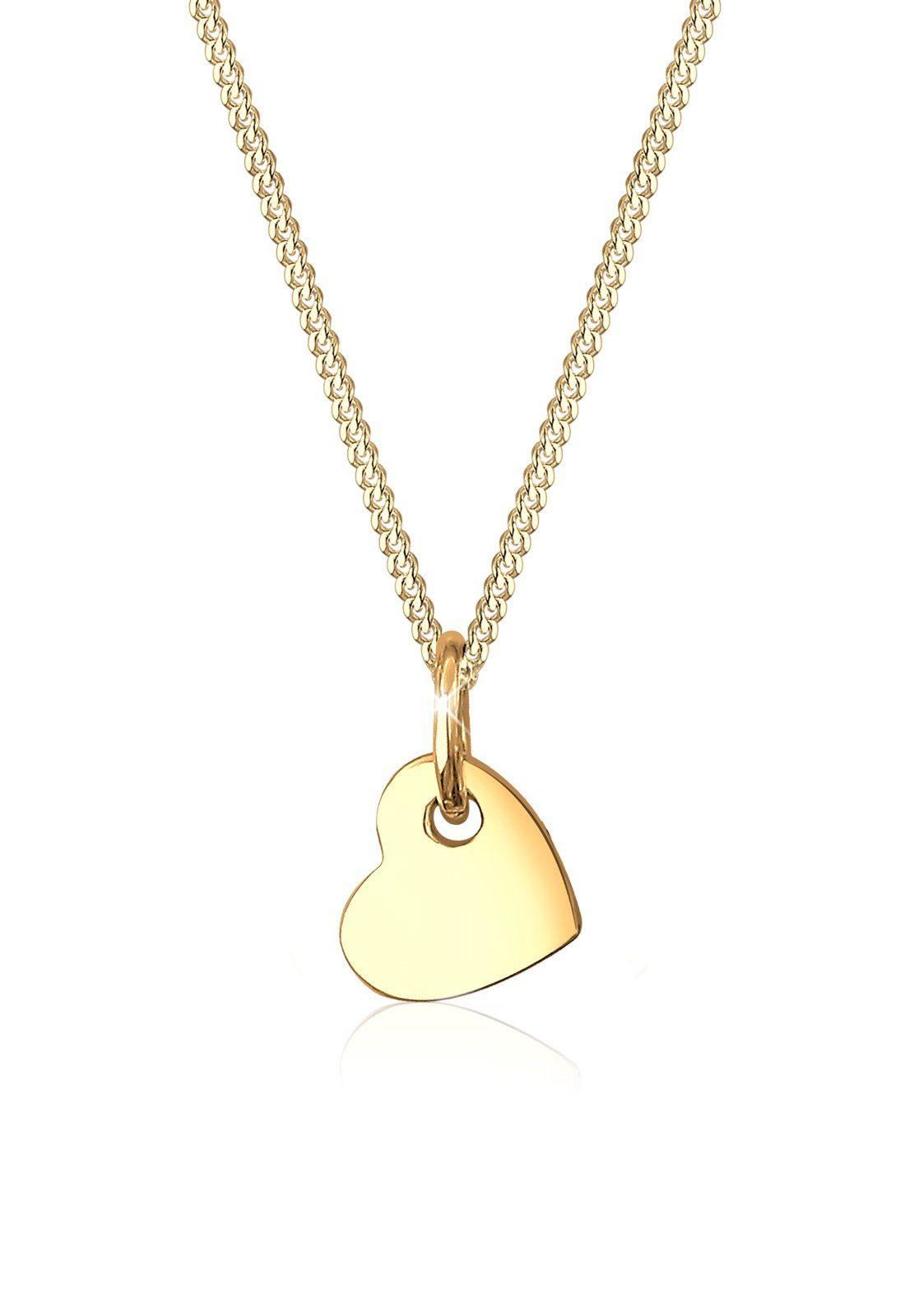 Elli Collierkettchen »Herz Romantisch Klassisch Edel 585 Gelbgold«