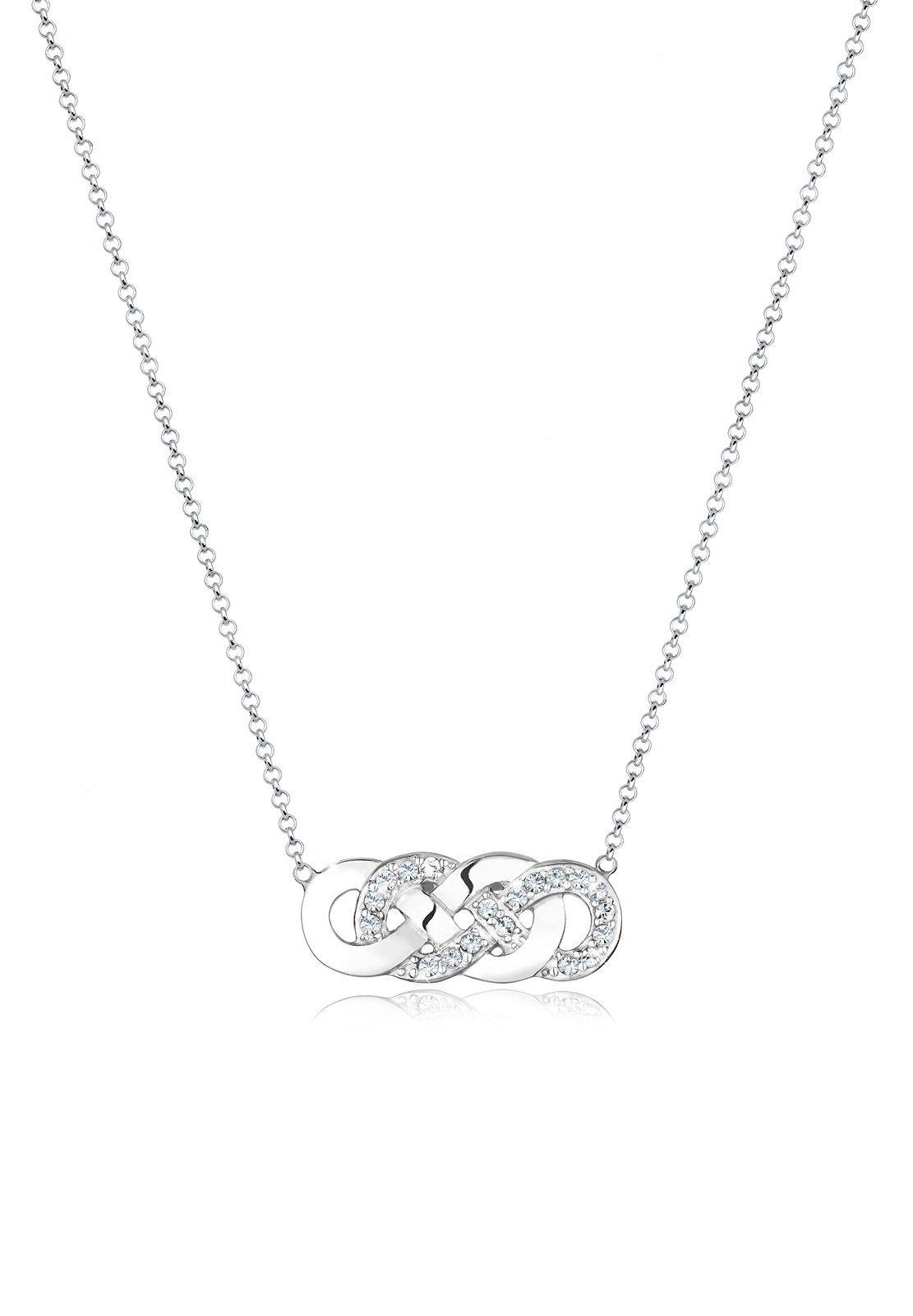 Elli Collierkettchen »Infinity Swarovski® Kristalle Lovely 925 Silber«