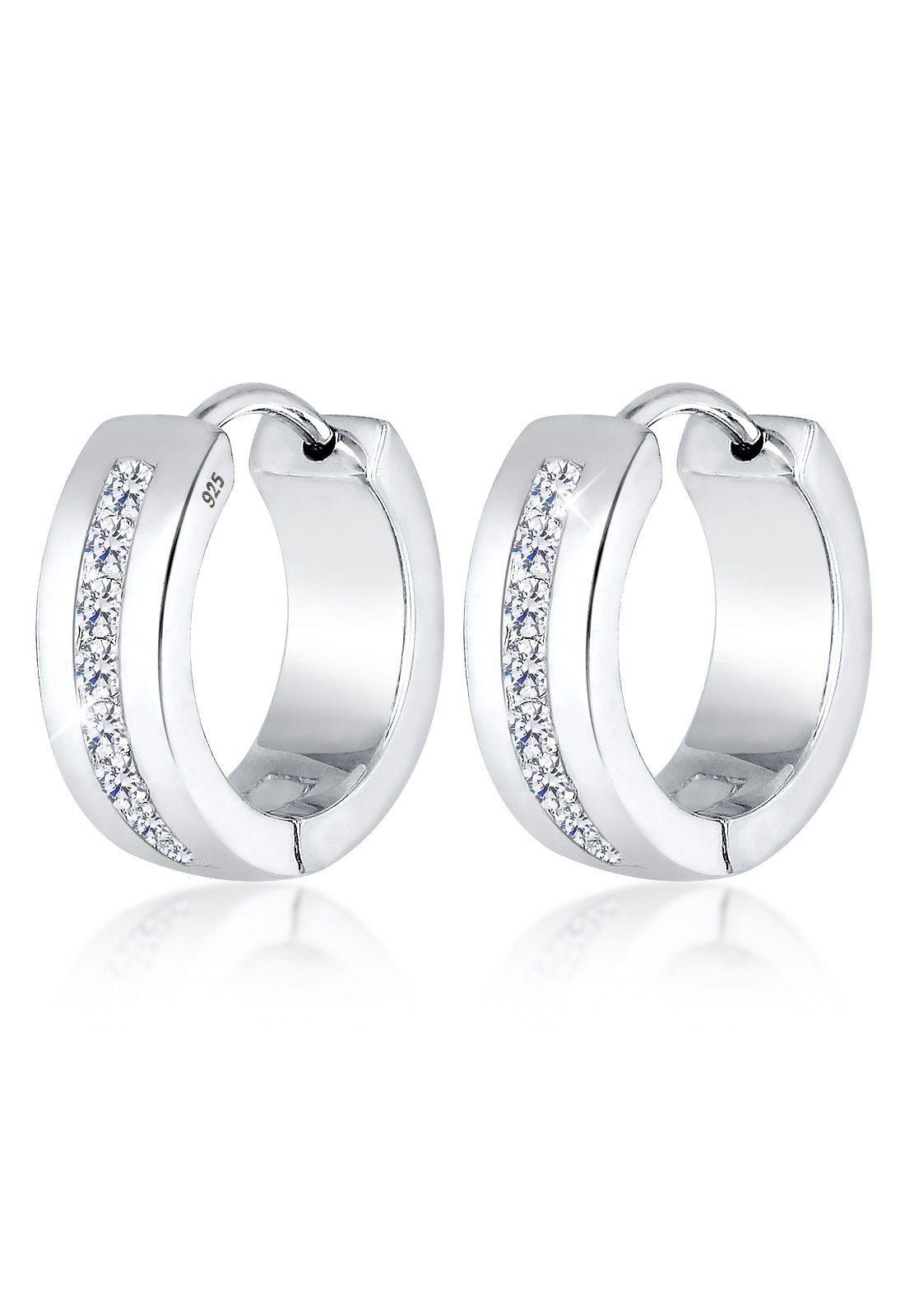 Elli Creole Online Silber« Kaufen 925 Creolen Zirkonia Paar Kristalle »basic l1cFJTK