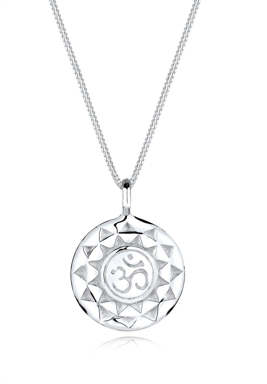 Elli Collierkettchen »Talisman Yoga Om Schutzsymbol 925 Sterling Silber«