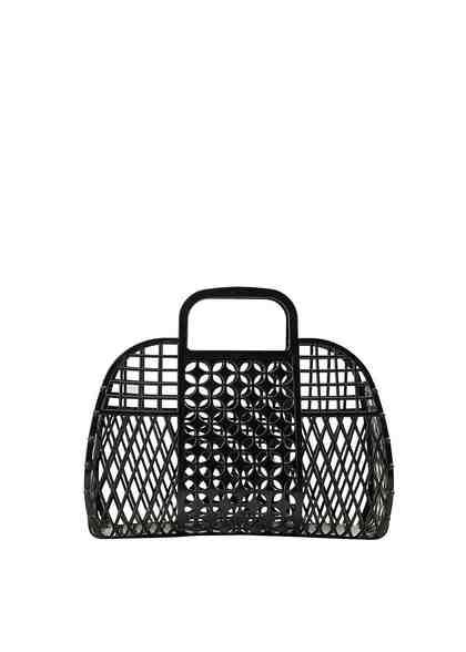 MANGO Tasche mit perforiertem Design