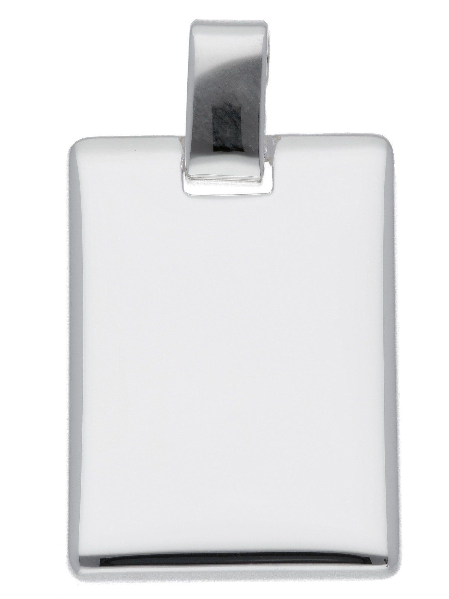 Adelia´s Kettenanhänger »Silber Gravurplatte«, 925 Sterling Silber