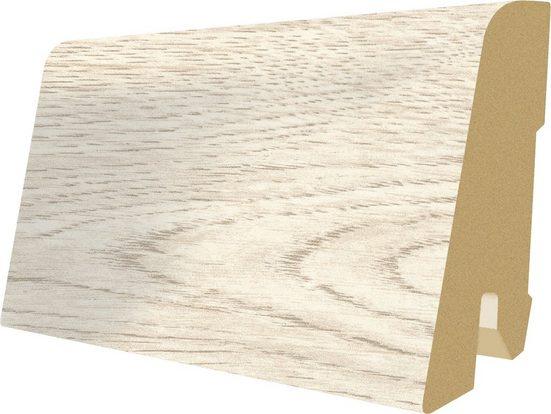 EGGER Sockelleiste »L384 - Creston Eiche weiß«, 6 cm Sockelhöhe, 240 cm Länge