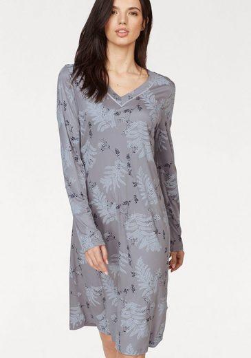 HUBER Nachthemd mit Blätter-Print