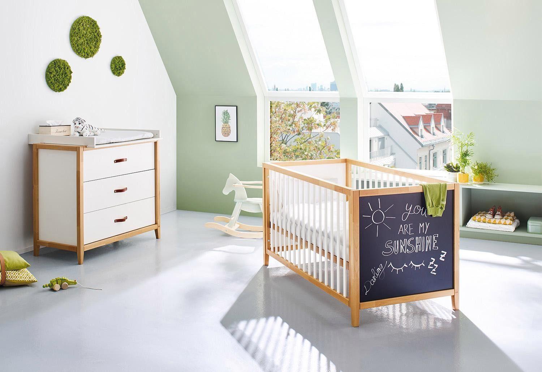 Pinolino Babyzimmer-Set (2-tlg.), Sparset, »Calimero breit mit Tafellack«