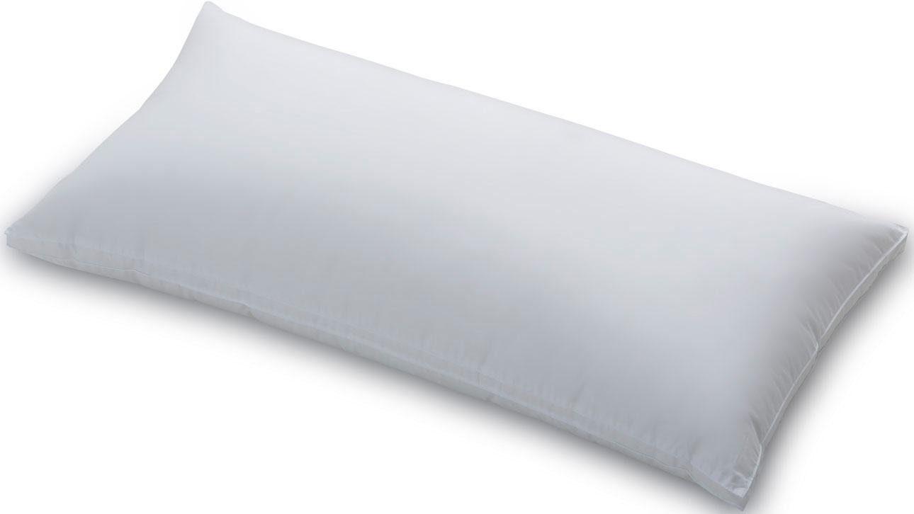 Federkissen, »Smaragd«, Schlafstil, Füllung: 70% Federn, 30% Gänsedaunen, Bezug: 100 % Baumwolle, (1-tlg), mit edlem Schlafstil-Aufdruck