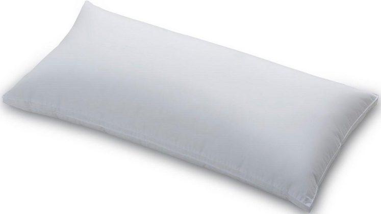 Daunenkissen, »Smaragd«, Schlafstil, Füllung: 60% Gänsedaunen, 40% Federn, Bezug: 100% Baumwolle, (1-tlg)