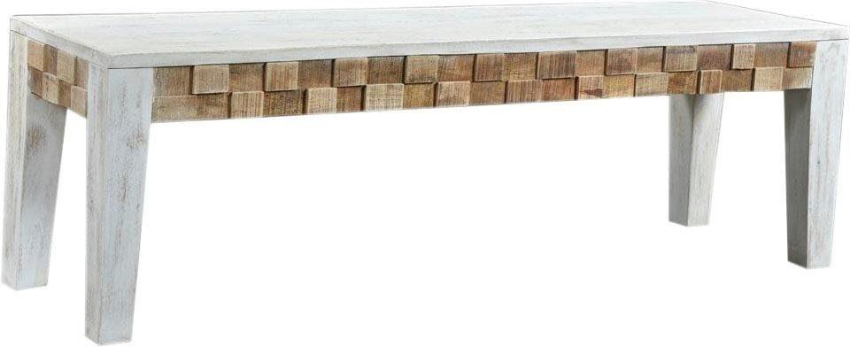 The Wood Times Sitzbank »Bricks« aus massivem Mangoholz, Breite 150 cm