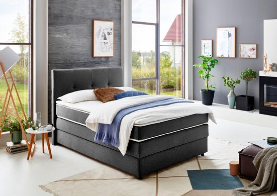 ATLANTIC home collection Boxspringbett, mit Bettkasten und Topper