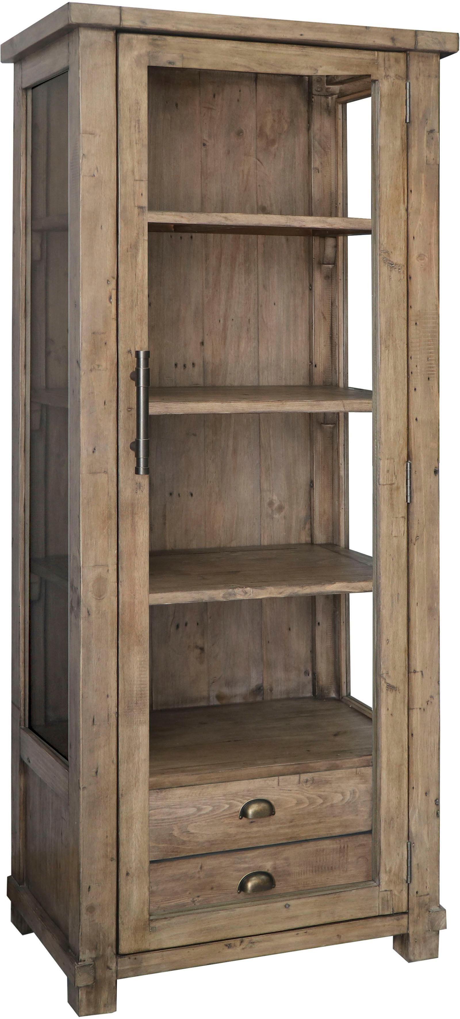 The Wood Times Vitrine »Industrial« aus massivem Pinienholz, Höhe 180 cm