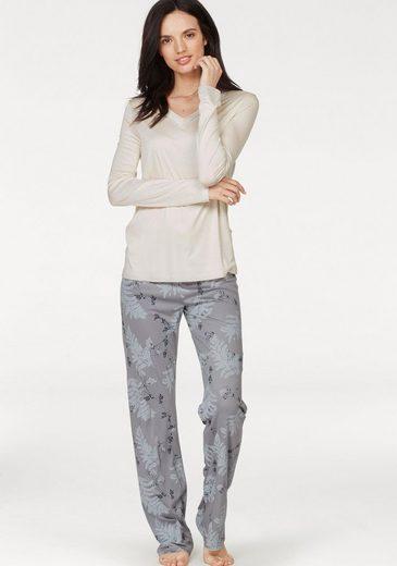 HUBER Pyjama »Northern Lights« mit Blätter-Print