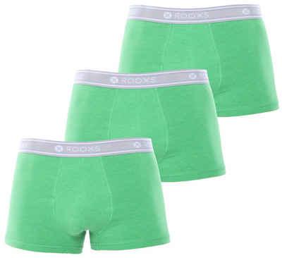ROOXS Boxershorts »Enge Herren Unterhosen Männer Unterwäsche« (3 Stück) 95% Baumwolle, eng anliegend, grün