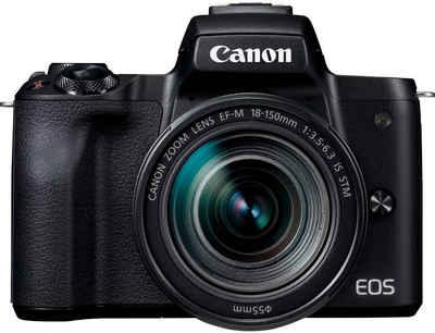 Canon »EOS-M50 EF-M18-150 Kit« Systemkamera (EF-M 18-150mm f/3.5-6.3 IS STM, 24,1 MP, NFC, WLAN (Wi-Fi), Bluetooth)