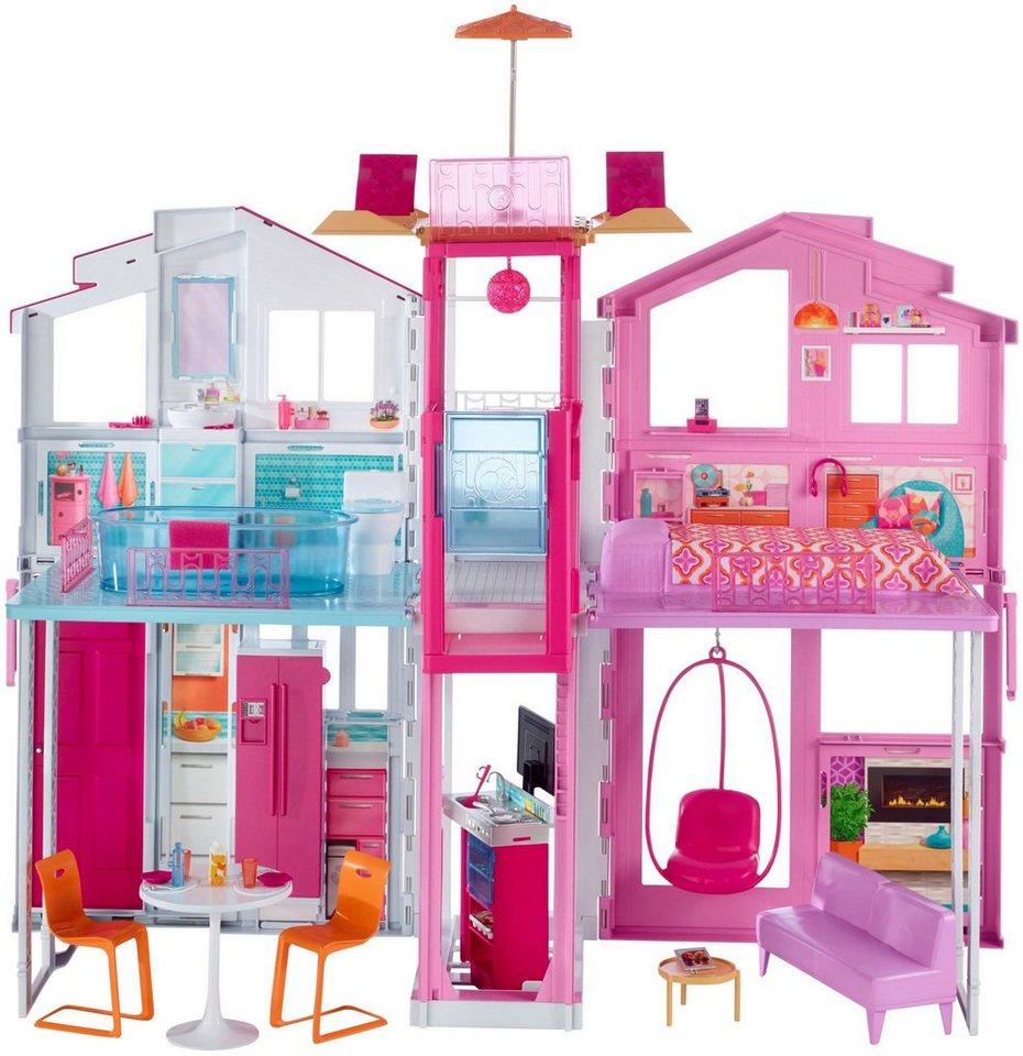 Mattel Puppenhaus,  Barbie 3-Etagen Stadthaus