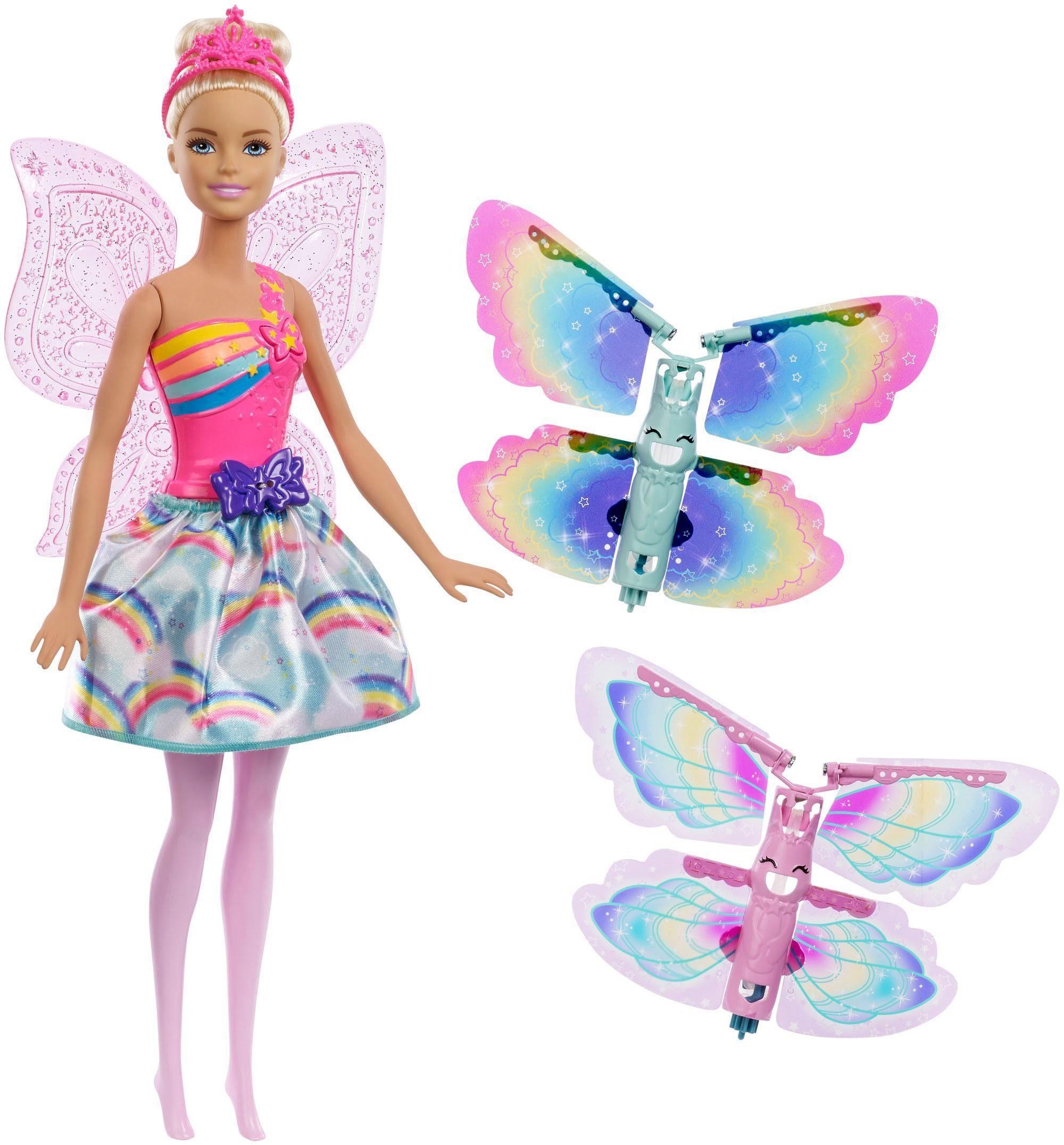 Mattel Puppe, »Barbie Dreamtopia Regenbogen-Königreich Magische Flügel-Fee Puppe blond«