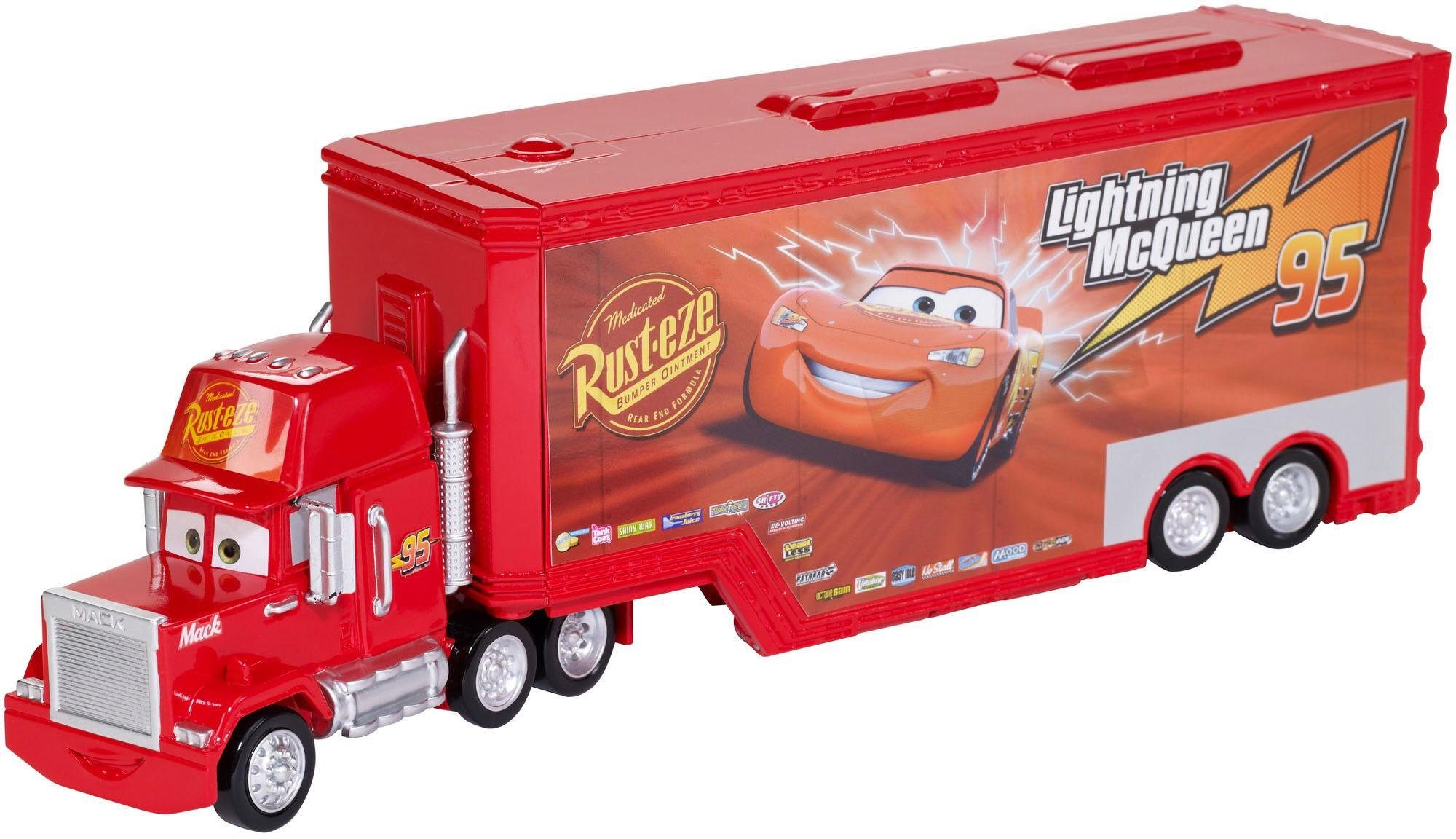 Mattel Verwandelbarer Spielfahrzeug, »Disney Cars Transporter Spielset Mack«