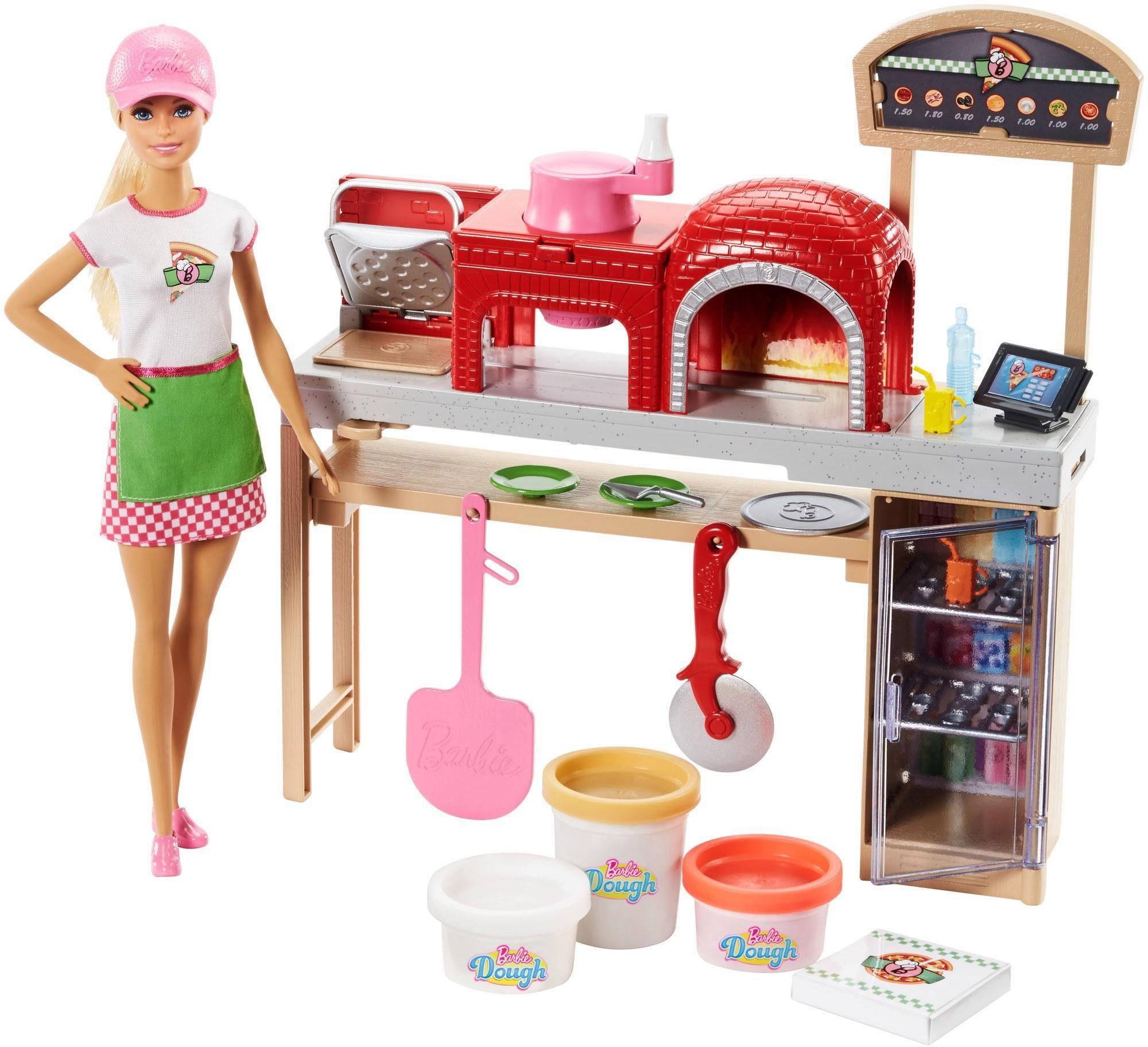Mattel Puppe mit Spielset, »Barbie Cooking & Baking, Pizzabäckerin Puppe & Spielset«