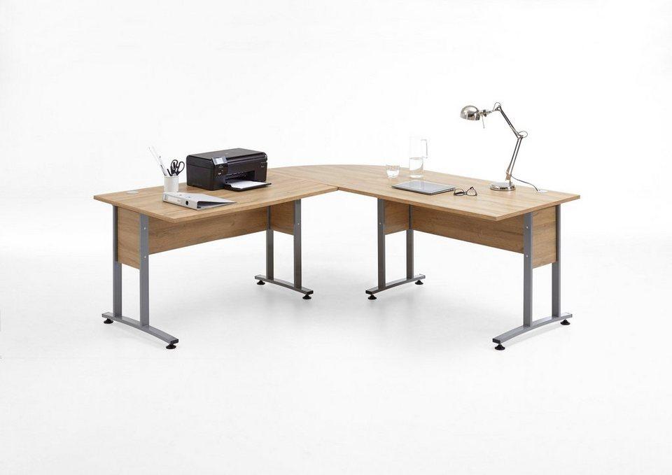 Fmd Schreibtisch Winkelkombination Calvi Maße Bth 20020075
