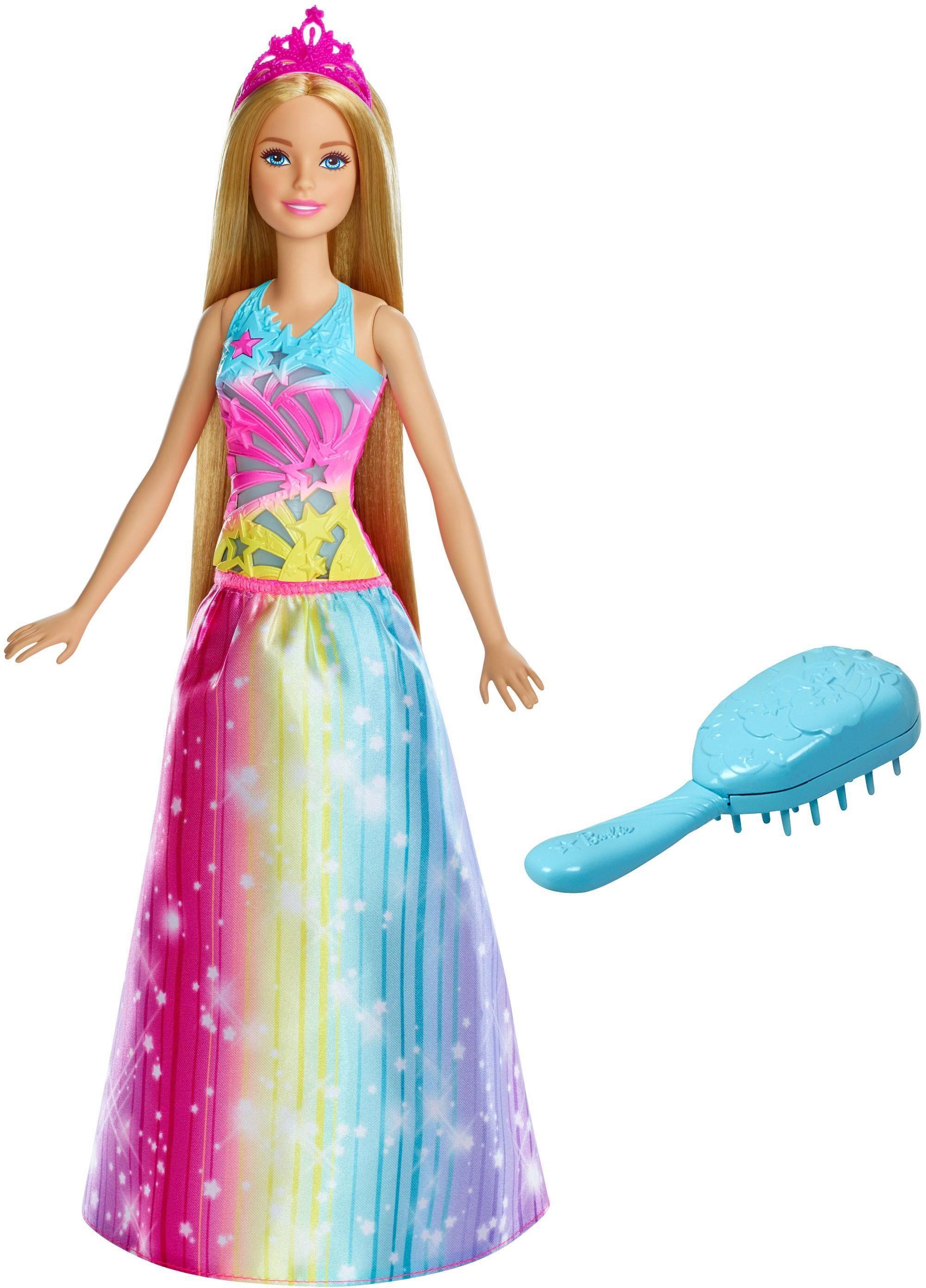 Mattel Puppe, »Barbie Dreamtopia Regenbogen-Königreich Magische Haarspiel-Prinzessin blond«