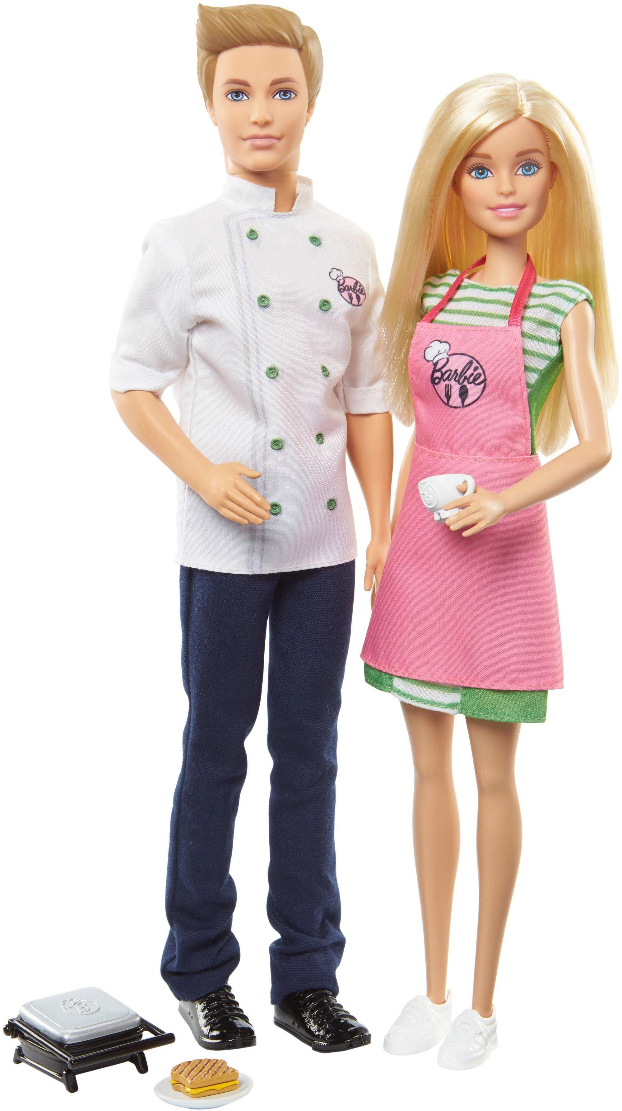 Mattel Puppe mit Spielset, »Cooking & Baking, Barbie & Ken Puppen Geschenkset«