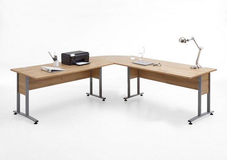 FMD Schreibtisch-Winkelkombination »Calvi«