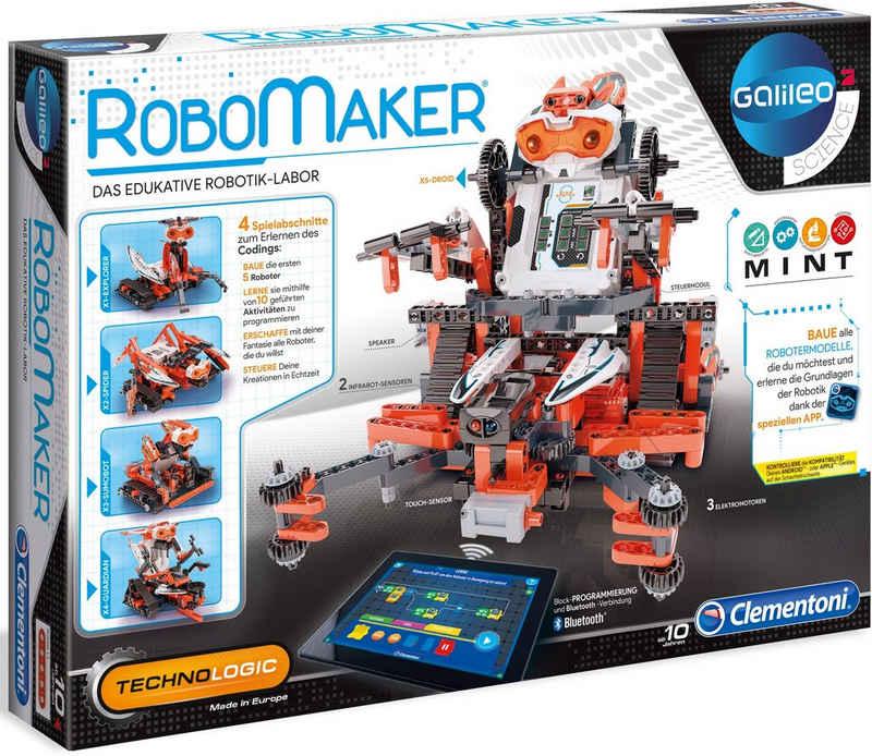 Clementoni® Modellbausatz »Galileo Construction Challenge Robomaker«, Made in Europe