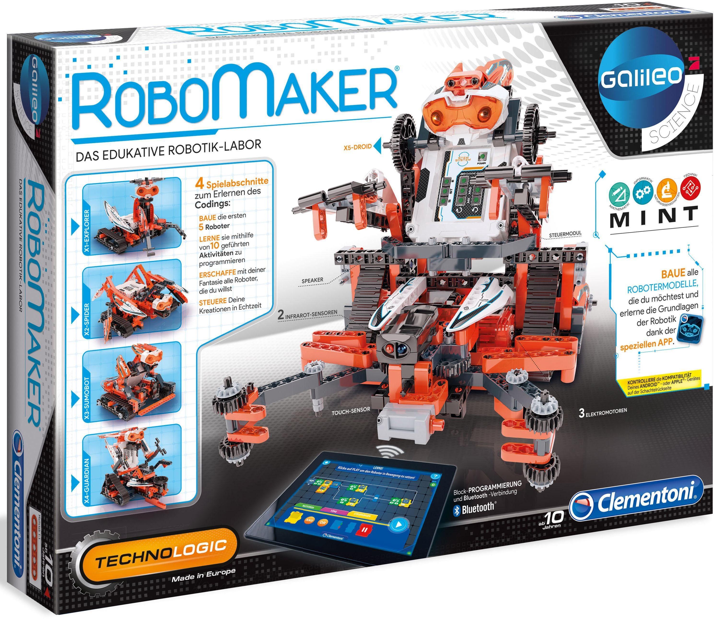 Clementoni Konstruktionsset, »Galileo - Construction Challenge Robomaker«
