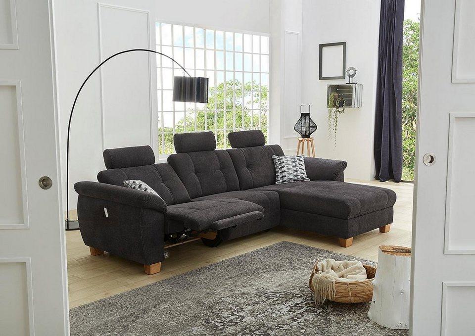 wohnlandschaft mit relaxfunktion im sofaelement und wahlweise im ottomane sowie jeweils usb. Black Bedroom Furniture Sets. Home Design Ideas