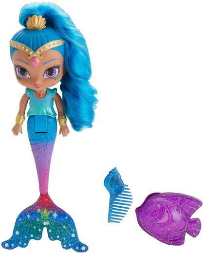 Mattel® Meerjungfrauenpuppe »Shimmer & Shine Magische Meerjungfrau Shine Puppe« (3-tlg)