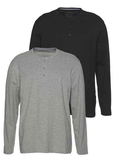 074af8843f Langarmshirt mit Knopfleiste für Herren online kaufen | OTTO