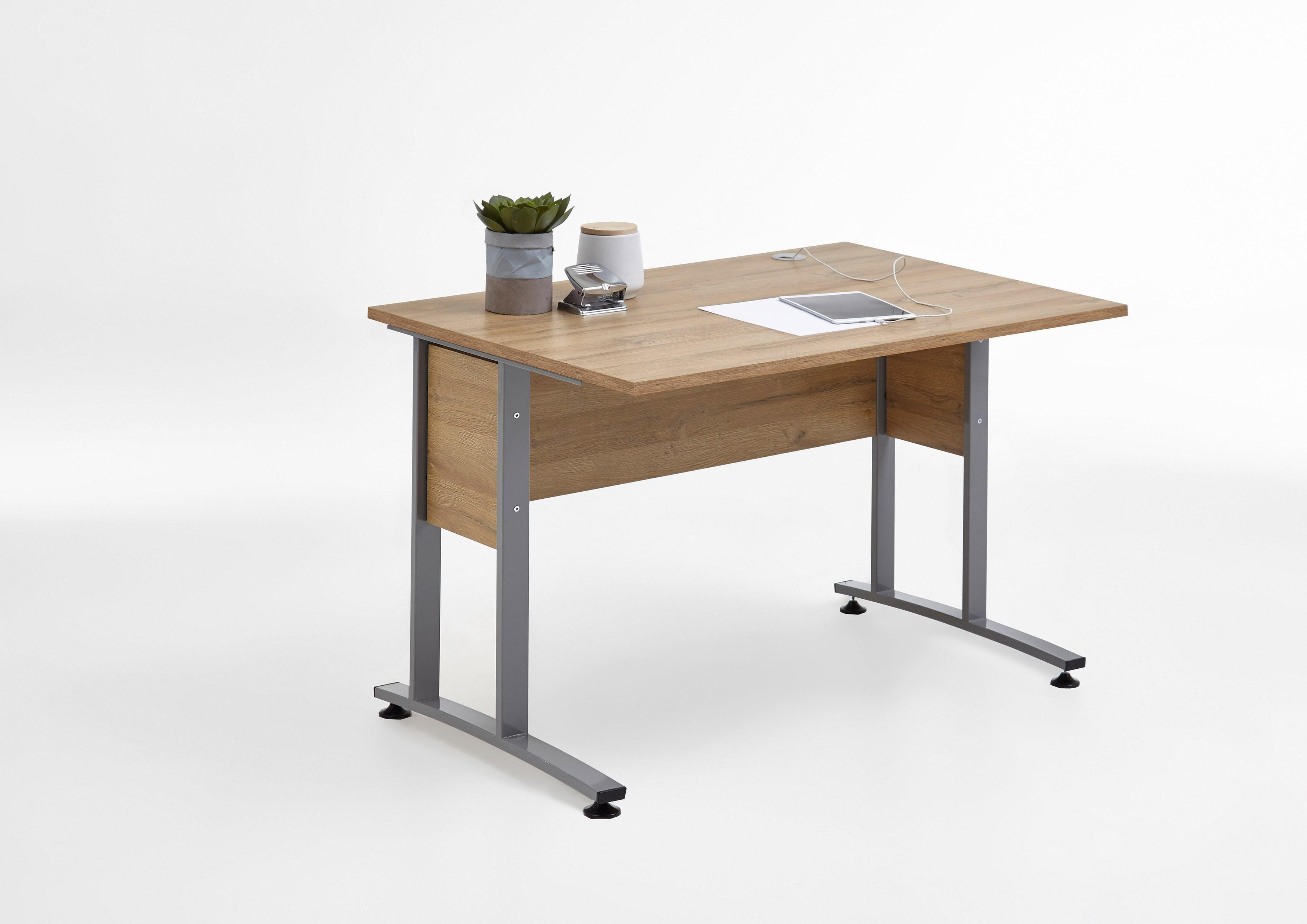 langer naturholzm Schreibtische online kaufen