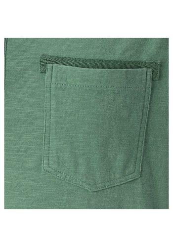 - Herren Jan Vanderstorm Langarmshirt HERVALD mit Brustprint und -tasche grün | 04056916308125