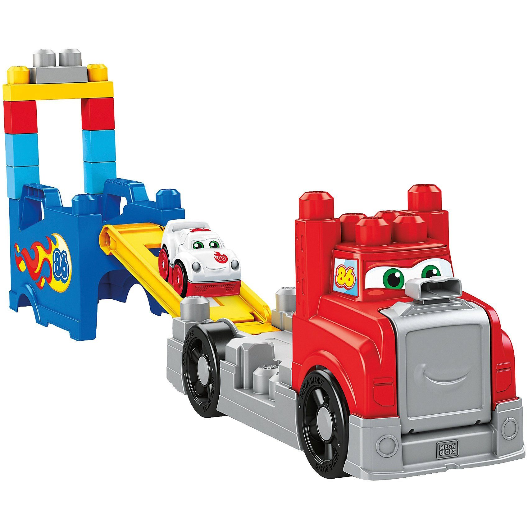 Mattel® Mega Bloks Fast Tracks Rennwagen-Transporter mit Geräuschen