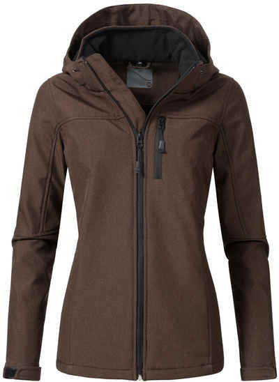 PEAK TIME Softshelljacke »L62000AS« sportliche Outdoor-Jacke mit Kapuze e047f6af93