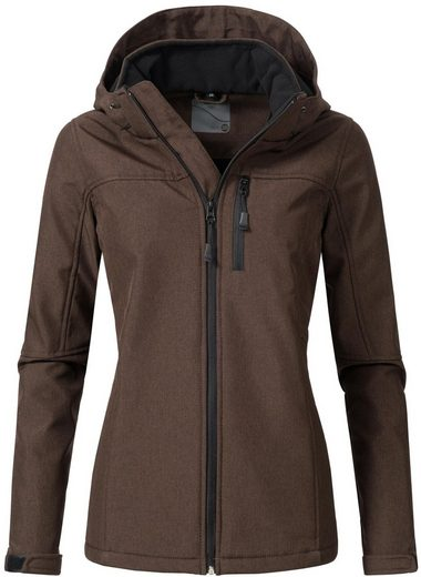PEAK TIME Softshelljacke »L62000AS« sportliche Outdoor-Jacke mit Kapuze