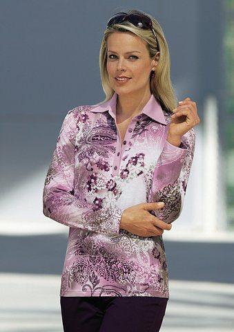 Classic Shirt in flieder-bedruckt