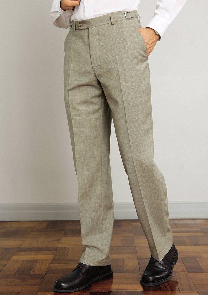 Classic Autofahrer-Hose mit verstellbaren Clipverschluss in beige-meliert